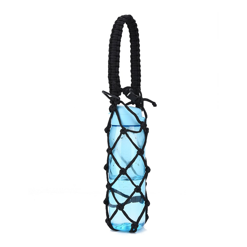 VGEBY Bottle Carrier Water Bottle Holder Net Prevents Dropping for Outdoor Hiking Camping Cycling