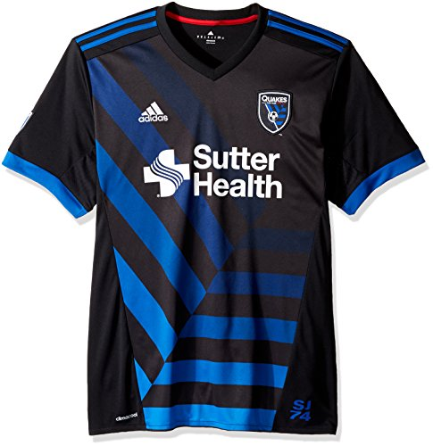 fan products of MLS San Jose Earthquakes Adult Men Replica Wordmark s/jersey,Large,black