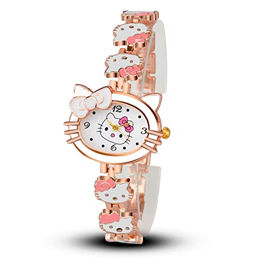 Watches for Kids, Cartoon Girls Bracelet Watch, Hello Kitty Fashion Casual Dress Quartz Wristwatch