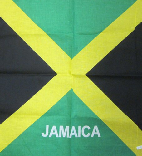 Flag Bandana - Bandana With Flag Print (Black Green)