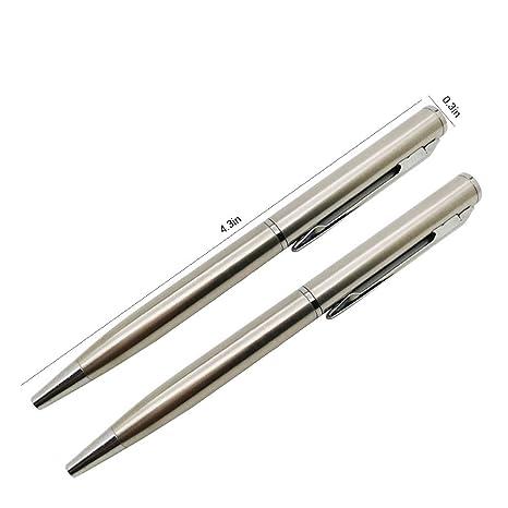 Mallalah - Bolígrafo de Metal (2 Unidades, para Bolsillo ...