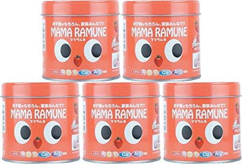 【5個セット】ママラムネ(いちごミルク風味)200粒 B07C5L9DRH