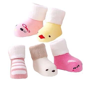 b07e4269f0d21 Amazon.com   5 Pairs of Cozy Cartoon Designer Unisex-Baby Cotton Socks