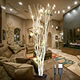 #8: Lightshare 36Inch 16LED Natural Willow Twig Lighted Branch for Home Decoration, USB Plug-in and Battery Powered