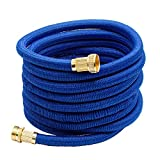AUTOMAN Garden Hose Expandable - 50FT Flexible Drinking Water Safe,Kink-Free Construction, ATMG03FLEXH1,Dark Blue
