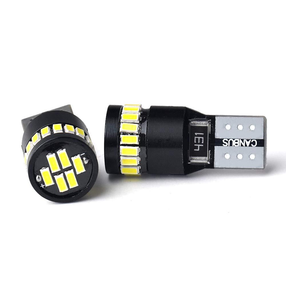 4 Luces Canbus LED W5W T10 24 3014 Luz de Estacionamiento Luz de posición Blanco Xenón: Amazon.es: Coche y moto