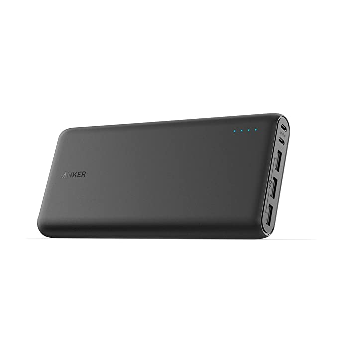 Anker PowerCore 26800mAh Power Bank Externer Akku mit Dual Input Ladeport, Doppelt so Schnell Wiederaufladbar, 3 USB Ports fü