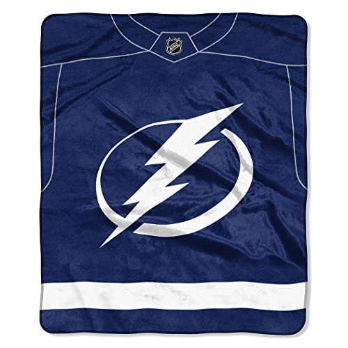 The Northwest Company Officially Licensed NHL Tampa Bay Lightning Pro Jersey Plush Raschel Throw Blanket, 50