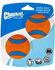 "Chuckit! Ultra Ball, Medium, 2.5"", 2 Pack, Orange/Blue"