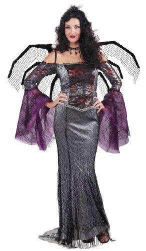 Forum Novelties Women's Designer Collection Deluxe Wicked Window Costume, Multi, Medium (Black Widow Witch Costume)