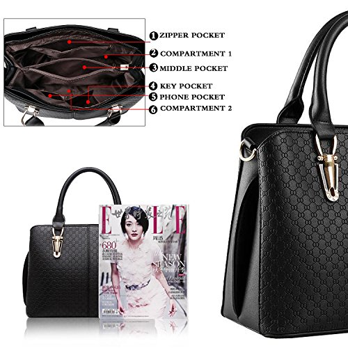 Women Tcife Satchel For Black And Shoulder Purses Tote Handbags Bags Aw6XwqO