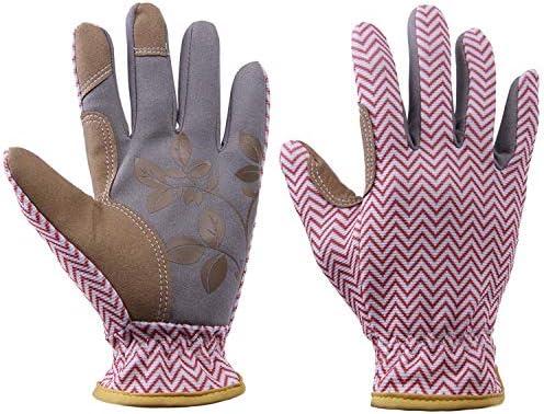 労働保護作業用手袋 女性の柔らかい庭の手袋、女性の作業手袋庭師のためのベストガーデンギフト&ツール(1ペア) (Color : Pink, Size : M)