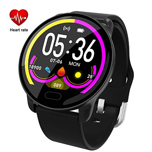 Heart Rate//Blood Pressure Pedometer for Cellphone Smart Bracelet Colorscreen with Calorie Counter Sport Activity Tracker with Sleep Monitor Rose Gold Byoung Smart Wristband for Women Waterproof