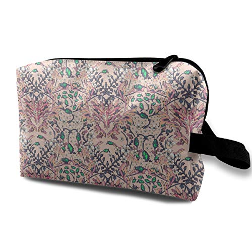 Flowers Design Cosmetic Bags Makeup Organizer Bag Pouch Zipper Purse Handbag Clutch Bag