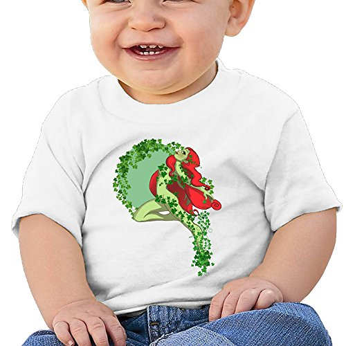 Price comparison product image Boss-Seller Poison Ivy Short Sleeve Infants Round Collar For 6-24 Months Infant Size 6 M White