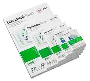 GBC 3743157 - Fundas de plastificación (100 unidades, para tarjetas de visita de 60 x 90 mm, 250 micrones)