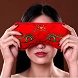 Facial Bones Pain - Moxa Hot Therapy Eye Pillow Eyes Care Moxibustion Salt Bag Smokeless Moxibustion Eye Mask, Preserve Vision, Alleviate fatigue, Removing eyes bags, made of Mineral sea salt & Ai Cao Chinese Wormwood