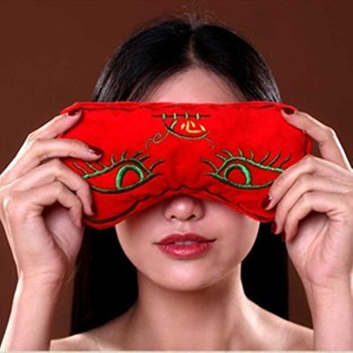 Moxa Hot Therapy Eye Pillow Eyes Care Moxibustion Salt Bag Smokeless Moxibustion Eye Mask, Preserve Vision, Alleviate fatigue, Removing eyes bags, made of Mineral sea salt & Ai Cao Chinese - Eye Salt