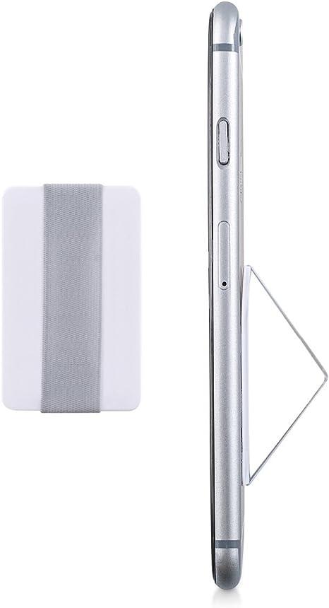 kwmobile Support autoadh/ésif pour Tablette Sangle poign/ée /élastique Dos Tablette Accessoire Universel Main pour tablettes Noir