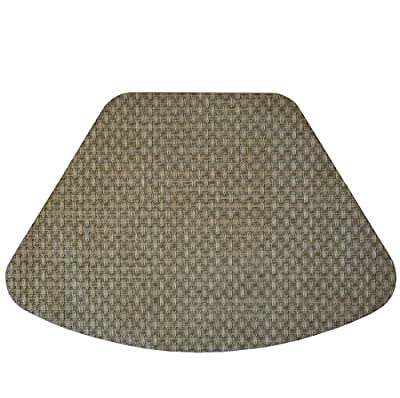 Set of 2 Light Sage Green and Tan Wipe Clean Wedge-Shaped Placemats