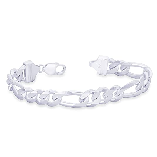 Taraash 925 Sterling Silver Bracelet For Men Silver-AFGH3006C8HIN Bracelets at amazon