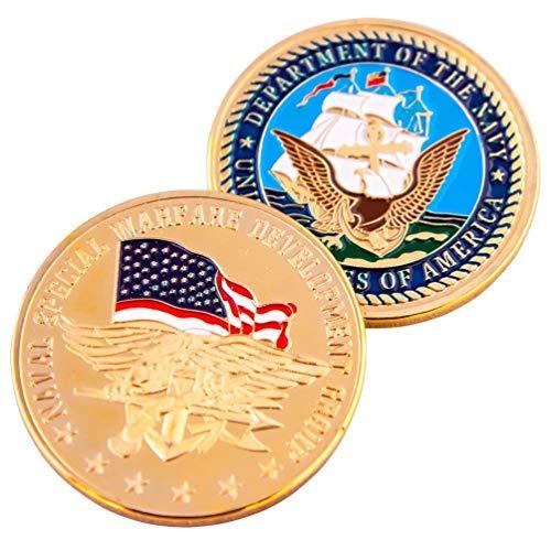 Art Crafter NSWDG DEVGRU Seal Team Six Challenge Coin Naval Special Warfare Development Group Badge N011J-Team 6 Special Team - Naval Badge