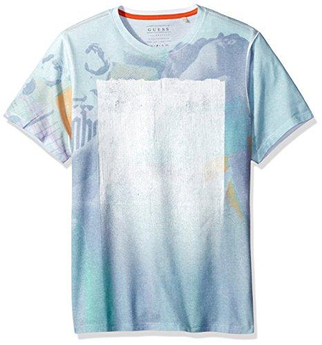 GUESS Mens Minted Crew T Shirt
