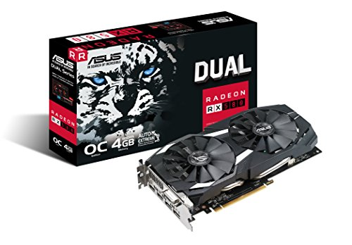51GE0fX%2BykL - ASUS ASUS ROG Strix Radeon RX 580 T8G Gaming Top OC Edition GDDR5 DP HDMI DVI VR Ready AMD Graphics Card - ROG-STRIX-RX580-T8G-GAMING