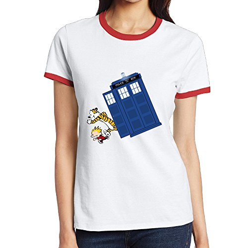 [NINJOE Women's Classical Calvin Doctor With Who Sport T-Shirt Red XXL] (Flash Drive Costume)