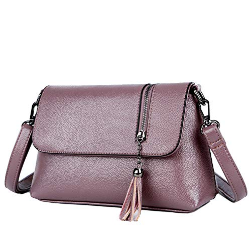 Moyen Mode aged Femmes Purple Messenger Tassel Sac Ysan De Petit Mère Cuir En M604 v4zHxXq