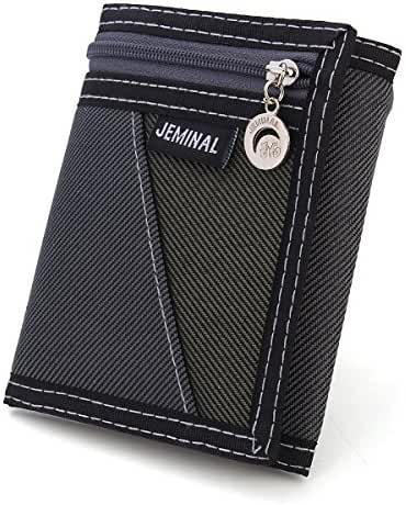 OURBAG Men Wallets Casual Canvas Wallet Vertical Male Purse Wallets