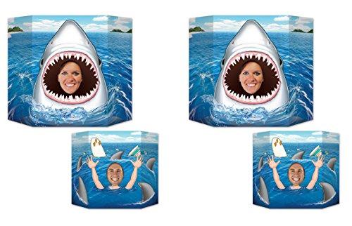 Beistle S54289AZ2, 2 Piece Shark Photo Props, 37'' x 25'' -