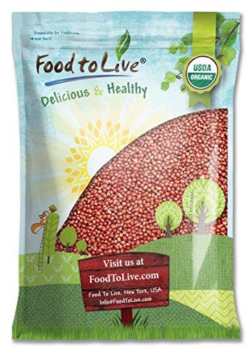 Organic Adzuki Beans by Food to Live (Kosher, Dried, Bulk ) - 10 Pounds