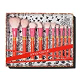 Sonia Kashuk Limited Edition 10pc Brush Set Color Shock, goat hair
