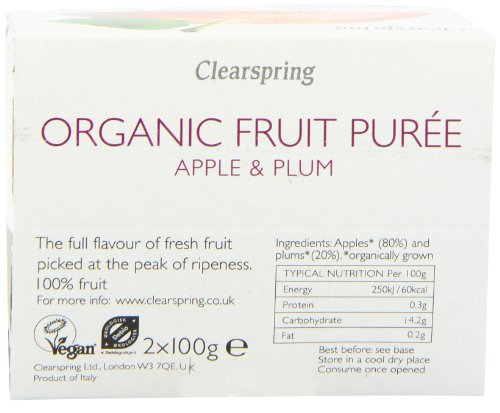 Clearspring Organic Apple and Plum Fruit Puree 2x100g (Pack of 12) by Clearspring (Image #3)'