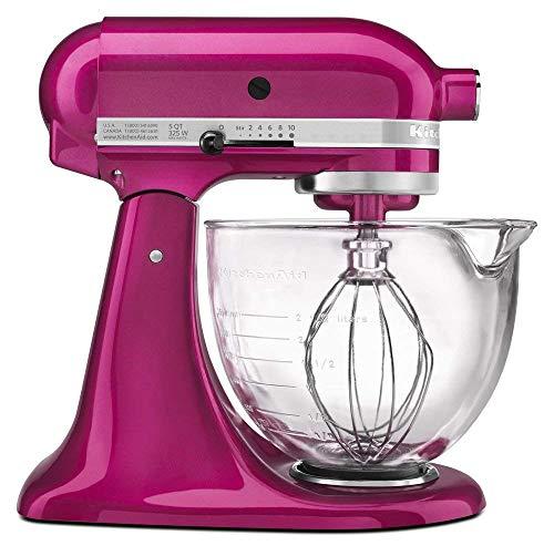 Mixer Raspberry - KitchenAid 5-Quart Stand Mixer Glass Bowl Raspberry Ice