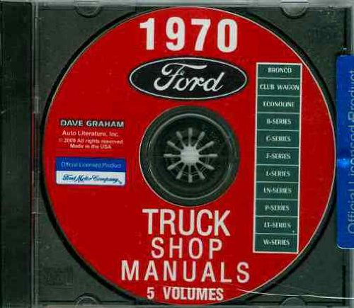 (FULLY ILLUSTRATED 1970 FORD TRUCK & PICKUP FACTORY REPAIR SHOP & SERVICE MANUAL CD - INCLUDES F100 F150 F250 F350 F500 F600 TO F7000, C-Series, W-Series, P-Series, WT-Series, L-Series, LN-series, N-Series, HT-Series 70)