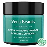 Teeth Whitening Powder - Made with Coconut Activated Charcoal and Food Grade Formula - Fresh Mint Flavor (30g)
