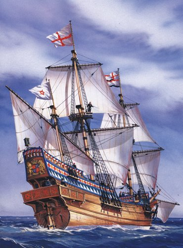 Heller Golden Hind Boat Model Building Kit