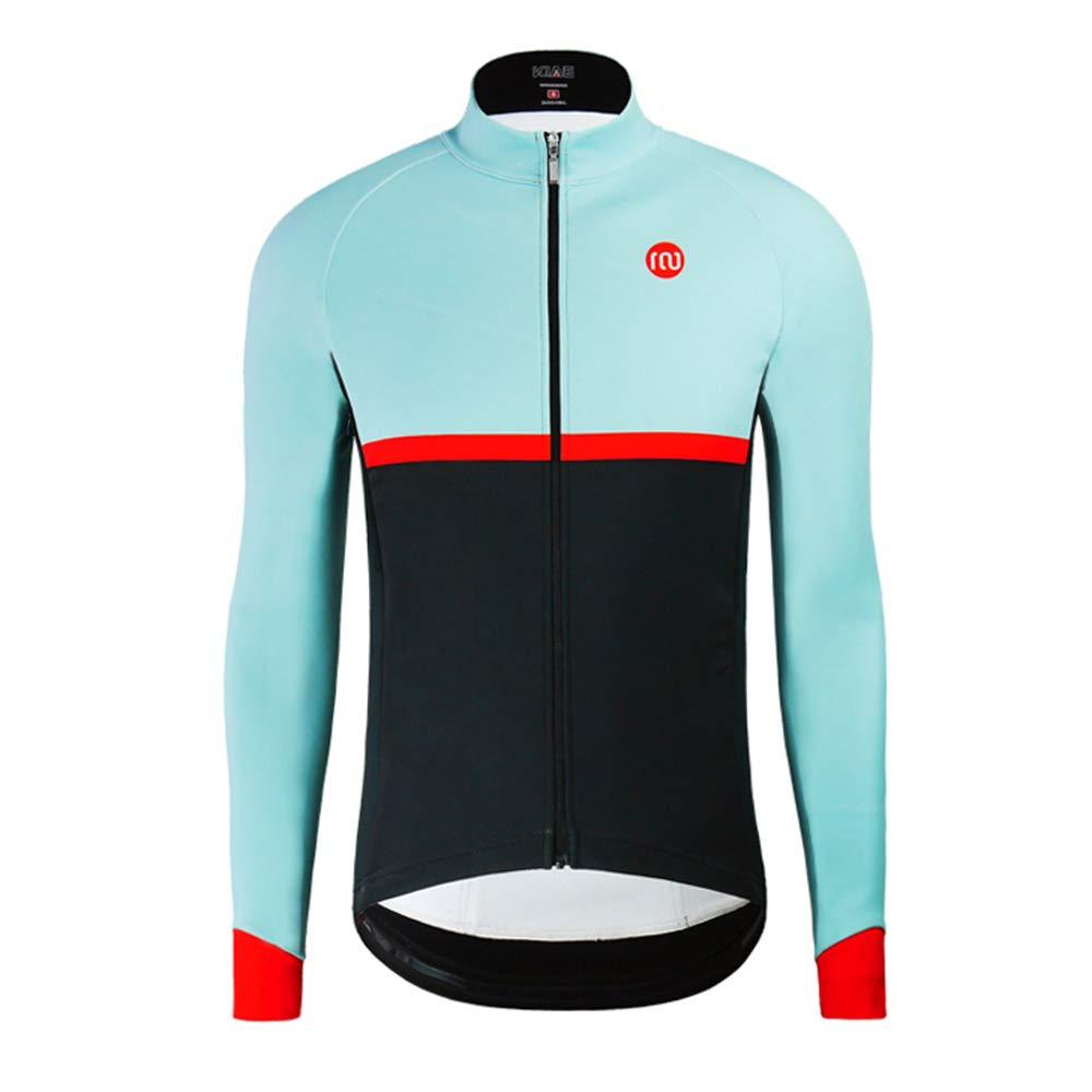 サイクリングジャージートップス冬の柔らかいシェルは、冷たいふわふわの防風防水暖かい長袖スポーツウェア様々なサイズに対応 L  B07H4PG84K