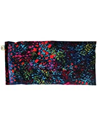 Lavender Flax Seed Eye Pillow - Super Soft Cotton Flannel - 4 x 8.5 - Organic - Naturally Soothing Relaxing - Yoga Massage Meditation Aromatherapy - black pink turquoise blue