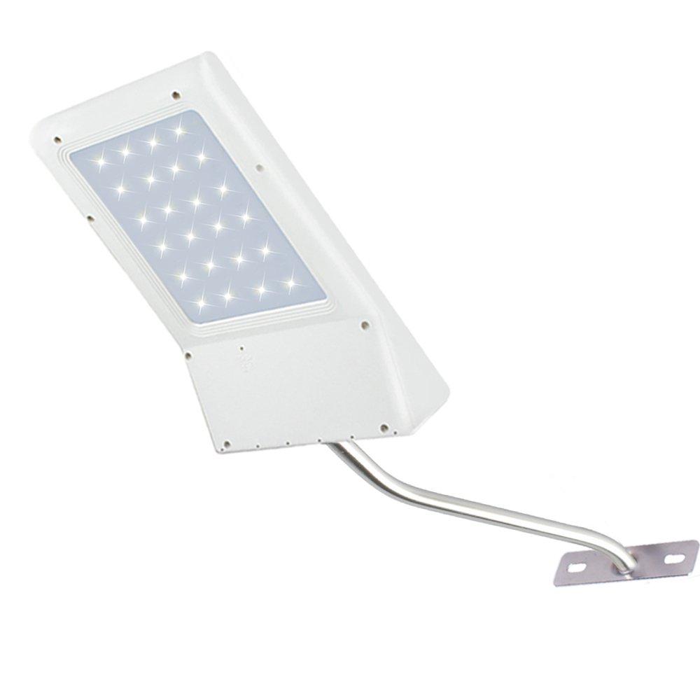 Betorcy LED Solar Wall Light, Street Light, Automatic Light Sensing, Dusk To Dawn Outdoor IP65 Waterproof, 210lm 6500K Cool White, 24 high-efficiency LED, for Courtyard, Street, Garage, Deck, Garden