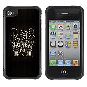 Suave TPU Caso Carcasa de Caucho Funda para Apple Iphone 4 / 4S / Empire 6 / STRONG