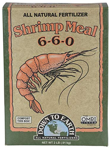 Down to Earth Organic Shrimp Meal Fertilizer Mix 6-6-0, 2 lb