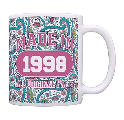 21st Birthday Gift Made 1998 Paisley Birthday Mug Decorations Gift Coffee Mug Tea Cup Paisley