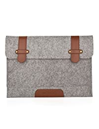 Mosiso Felt Sleeve Case Bag Cover for 12-Inch New Macbook with Retina Display, Gray