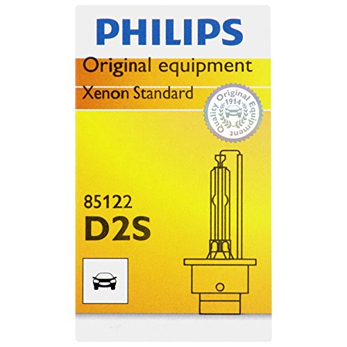 2001 Xenon Headlight Bulbs (Philips D2S Standard Xenon HID Headlight Bulb, 1 Pack)