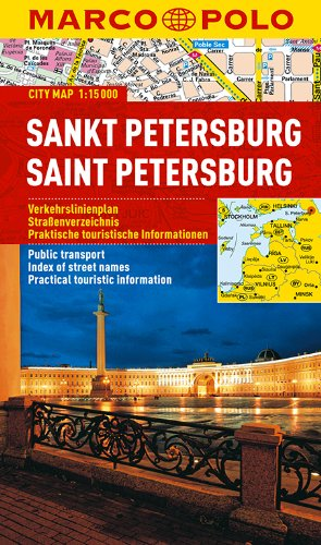 St Petersburg Marco Polo City Map: 1:15 000 (Marco Polo City Maps)