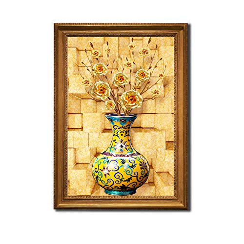 (Cross Stitch Kits Embroidery Needlework Sets with Printed Pattern 11CT-Canvas for Home Decor Painting Flowers Full Z30,48x68cm Cotton Full Z30,11CT )