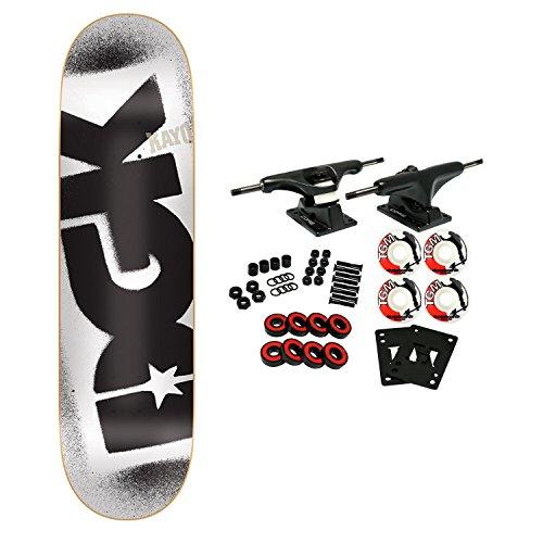 DGK Skateboard Complete Stencil Logo White 8.5
